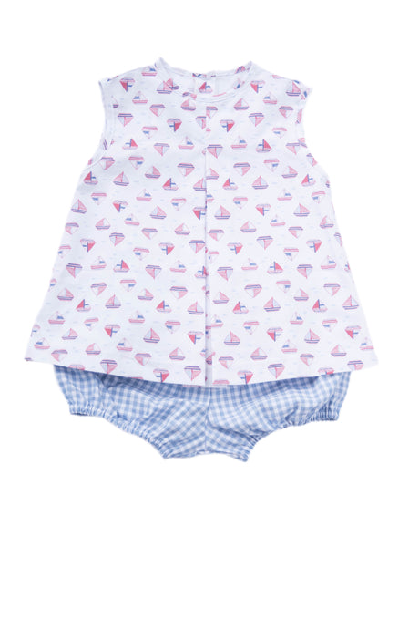 Rory Diaper Set, Sailboats