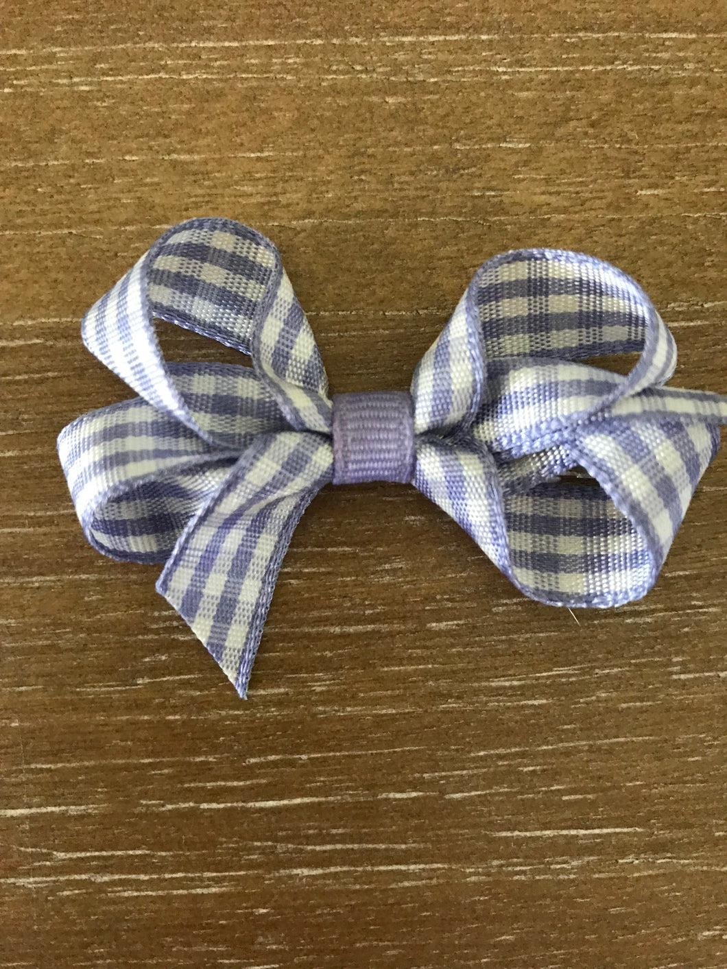 Ginny Gingham Bow, Purple