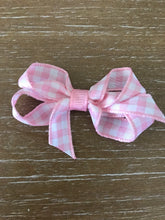 Ginny Gingham Bow, Pink