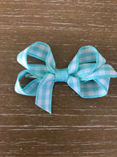 Ginny Gingham Bow, Teal