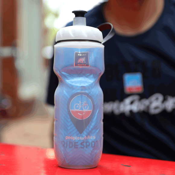 PeopleForBikes Ride Spot water bottle
