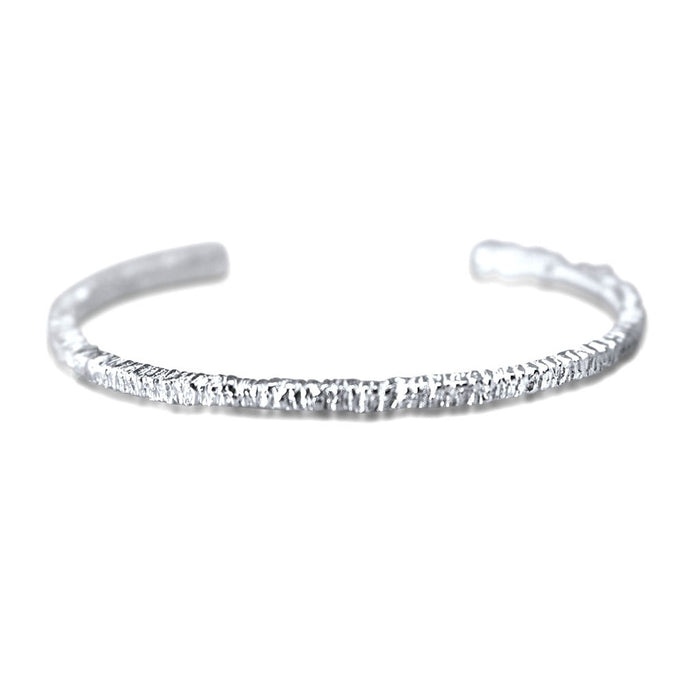 Amari Sterling Silver Thread Bangle Bracelet