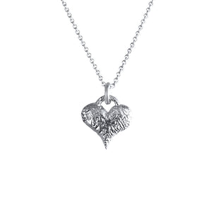 Belen Sterling Silver Love Heart Necklace