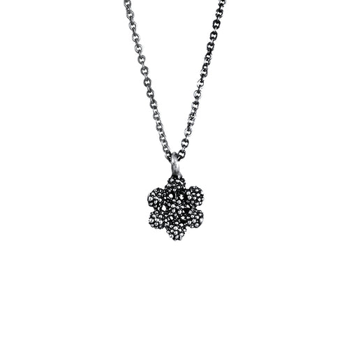 Carmen Sterling Silver Oxidised Daisy Necklace