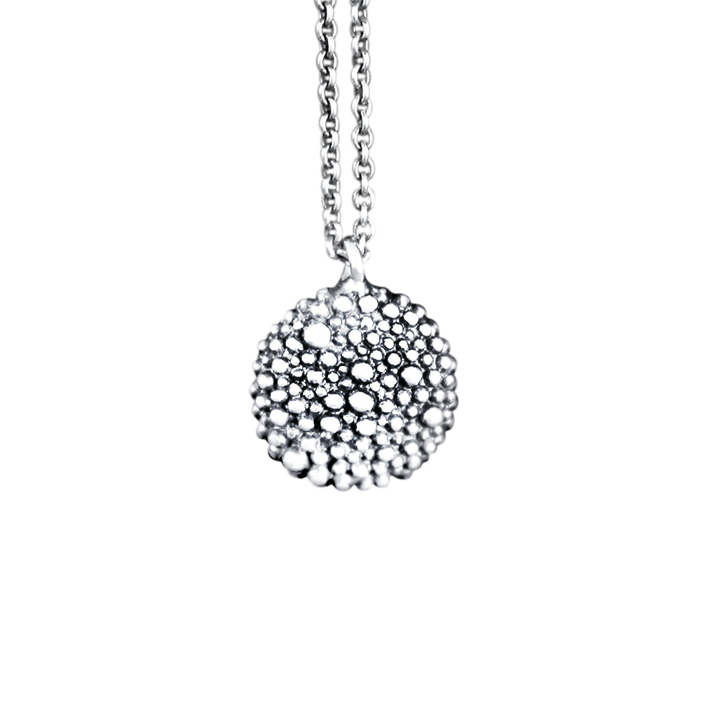 Carmen Sterling Silver Oxidised Pebble Necklace
