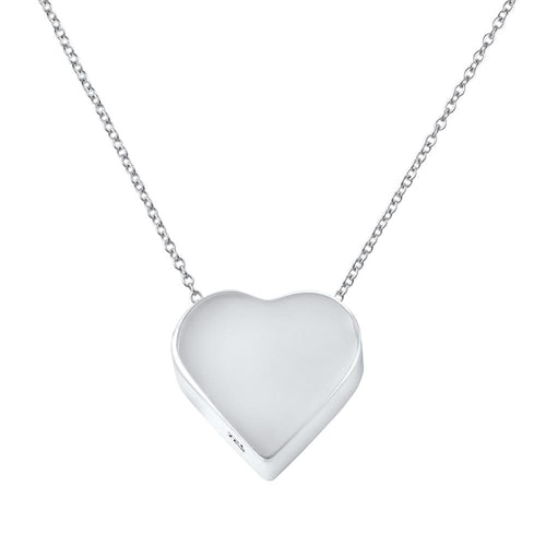 Corazon Sterling Silver Kids Heart Pendant Necklace Kids Pendant