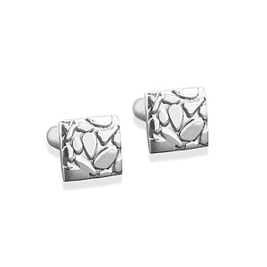 Enzo Animal Print Sterling Silver Square Cufflinks Cufflinks