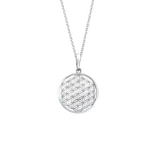 Talia Flower Of Life Sterling Silver Pendant Necklace Necklace
