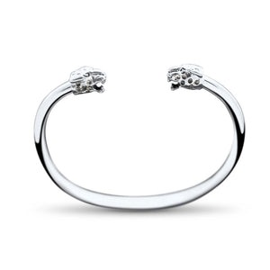 Leona Sterling Silver Jaguar Bangle Bracelet