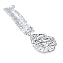 Lucia Sterling Silver Skeleton Petal Long Necklace