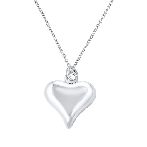 Luli Sterling Silver Curved Heart Kids Pendant Necklace Kids Pendant