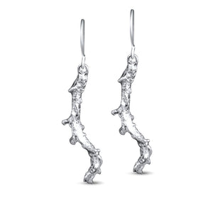 Mara Sterling Silver Long Coral Earrings Earring