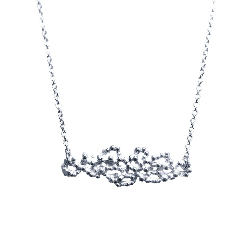 Minxie Sterling Silver Abstract Necklace