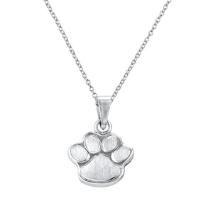 Oso Sterling Silver Paw Print Kids Pendant Necklace Kids Pendant