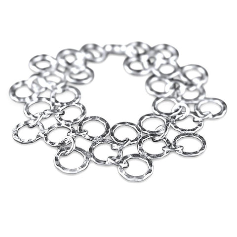 Rio Sterling Silver Tiered Linked Bracelet
