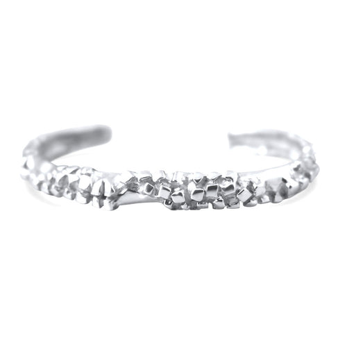 Rocas Sterling Silver Abstract Bangle Bracelet