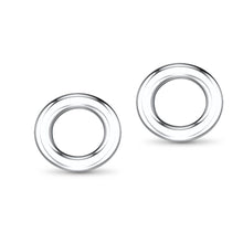 Serenity Sterling Silver Circle Stud Earrings