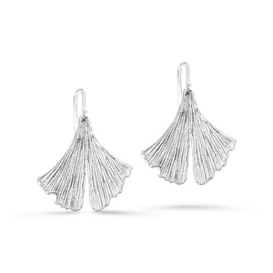 Shanti Sterling Silver Lotus Leaf Earrings Earring