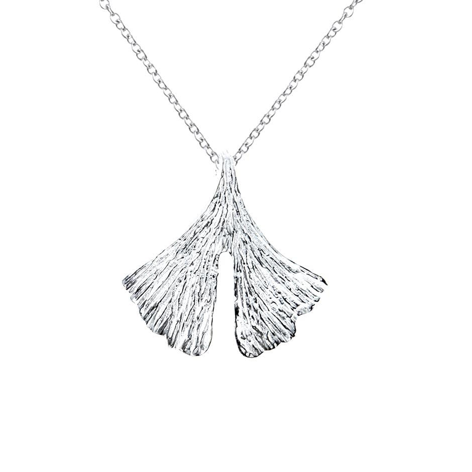 Shanti Sterling Silver Lotus Leaf Pendant Necklace Pendant