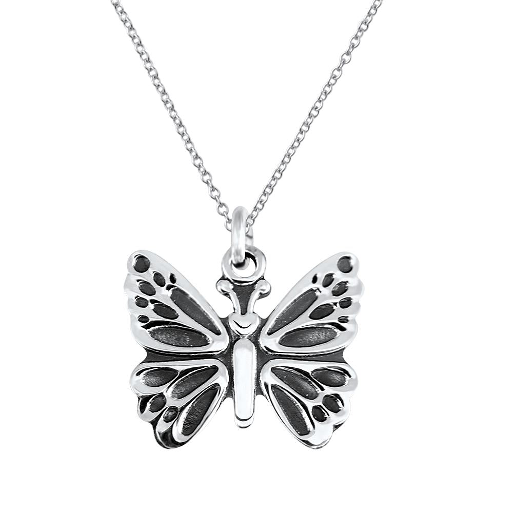 Mariposa Sterling Silver Kids Butterfly Pendant Necklace Kids Pendant