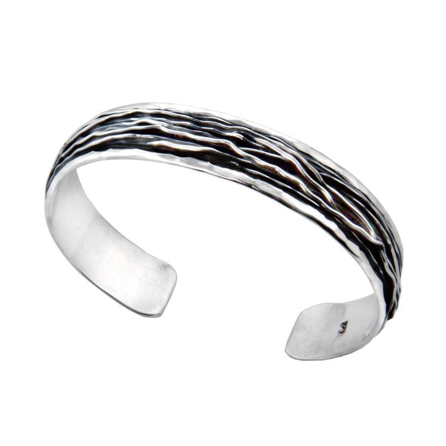 Ceres Sterling Silver Ruffle Bangle Bracelet Bracelet