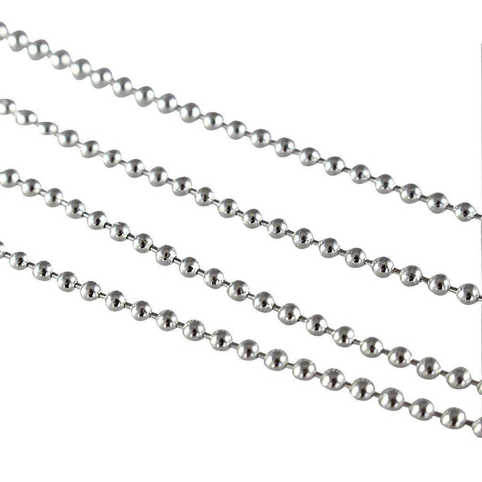 Sterling Silver Bolitas Ball Link Chain Chain