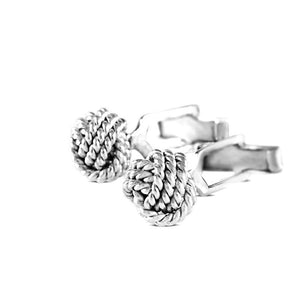 Nautico Sterling Silver Rope Knot Cufflinks Cufflinks