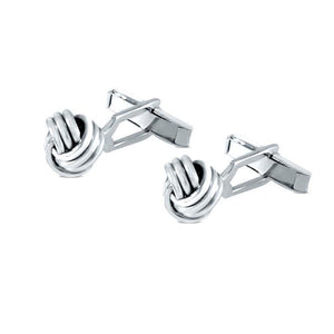 Tate Sterling Silver Smooth Knot Cufflinks Cufflinks