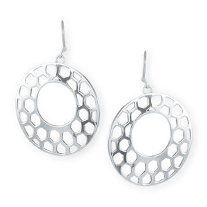 Capricorn Sterling Silver Cut-Out Earrings Earring