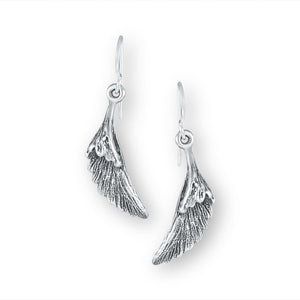 Embrace Sterling Silver Folded Wing Earrings Earring