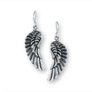 Heaven Sent Sterling Silver Angel Wing Earrings Earring