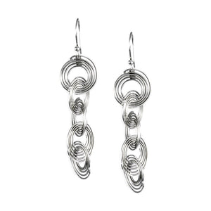 Lola Sterling Silver Long Coil Earrings Earring