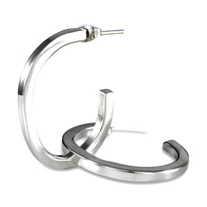 Lua Sterling Silver Open Hoop Earrings Earring