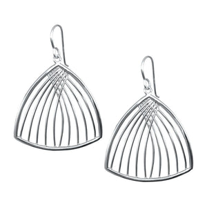 Mack Sterling Silver Fan Earrings Earring