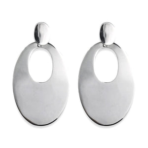 Maya Sterling Silver Long Oval Stud Earrings Earring