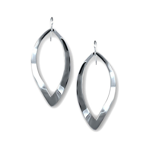 Mita Sterling Silver Oval Twist Earrings Earring