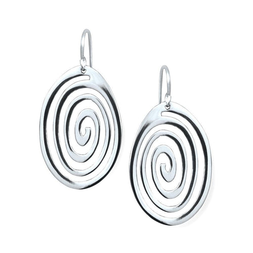 Nasca Sterling Silver Spiral Earrings Earring