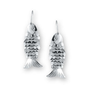 Pisces Sterling Silver Fish Earrings Earring