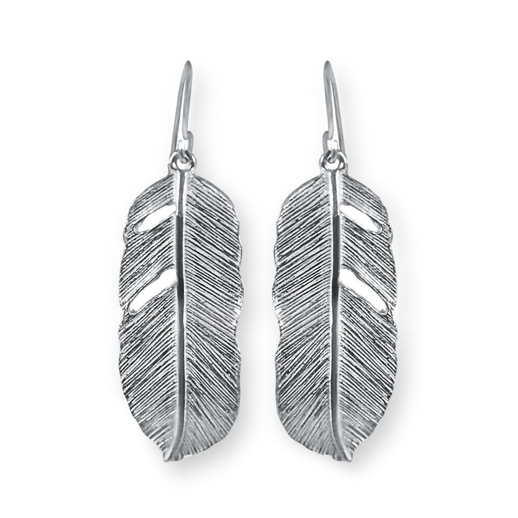 Pluma Sterling Silver Feather Earrings Earring