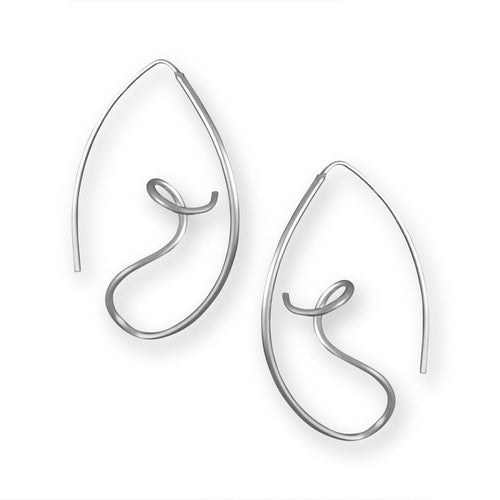 Sofia Sterling Silver Twist Hoop Earrings Earring