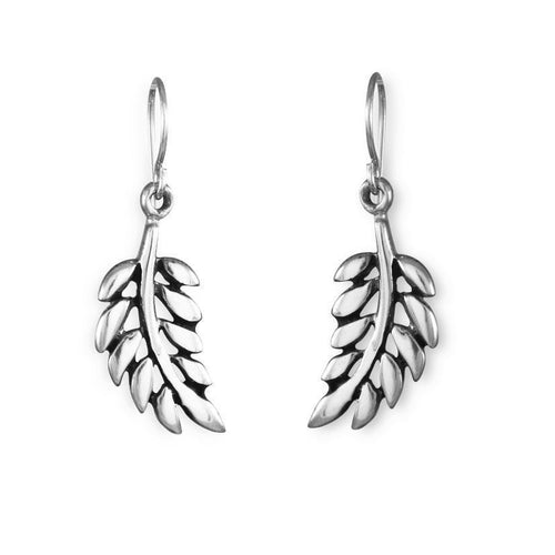 Tula Sterling Silver Oxidised Leaf Earrings Earring
