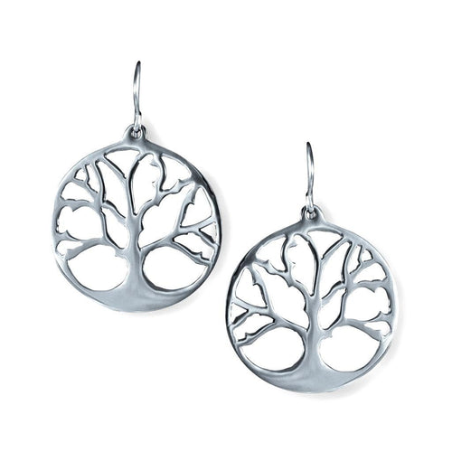 Vida Sterling Silver Tree Of Life Earrings Earring