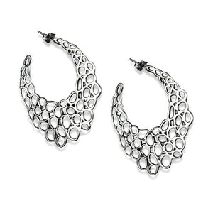 Chica Sterling Silver Large Cut-Out Hoop Earrings