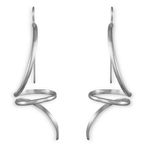 Tequila Sterling Silver Long Twist Earrings
