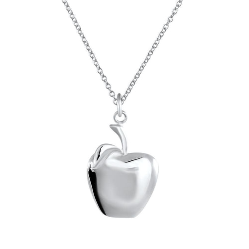 Big Apple Sterling Silver Kids Pendant Necklace Kids Pendant