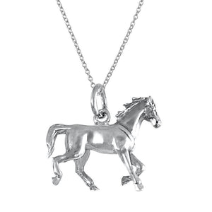Champion Sterling Silver Kids Horse Pendant Necklace Kids Pendant