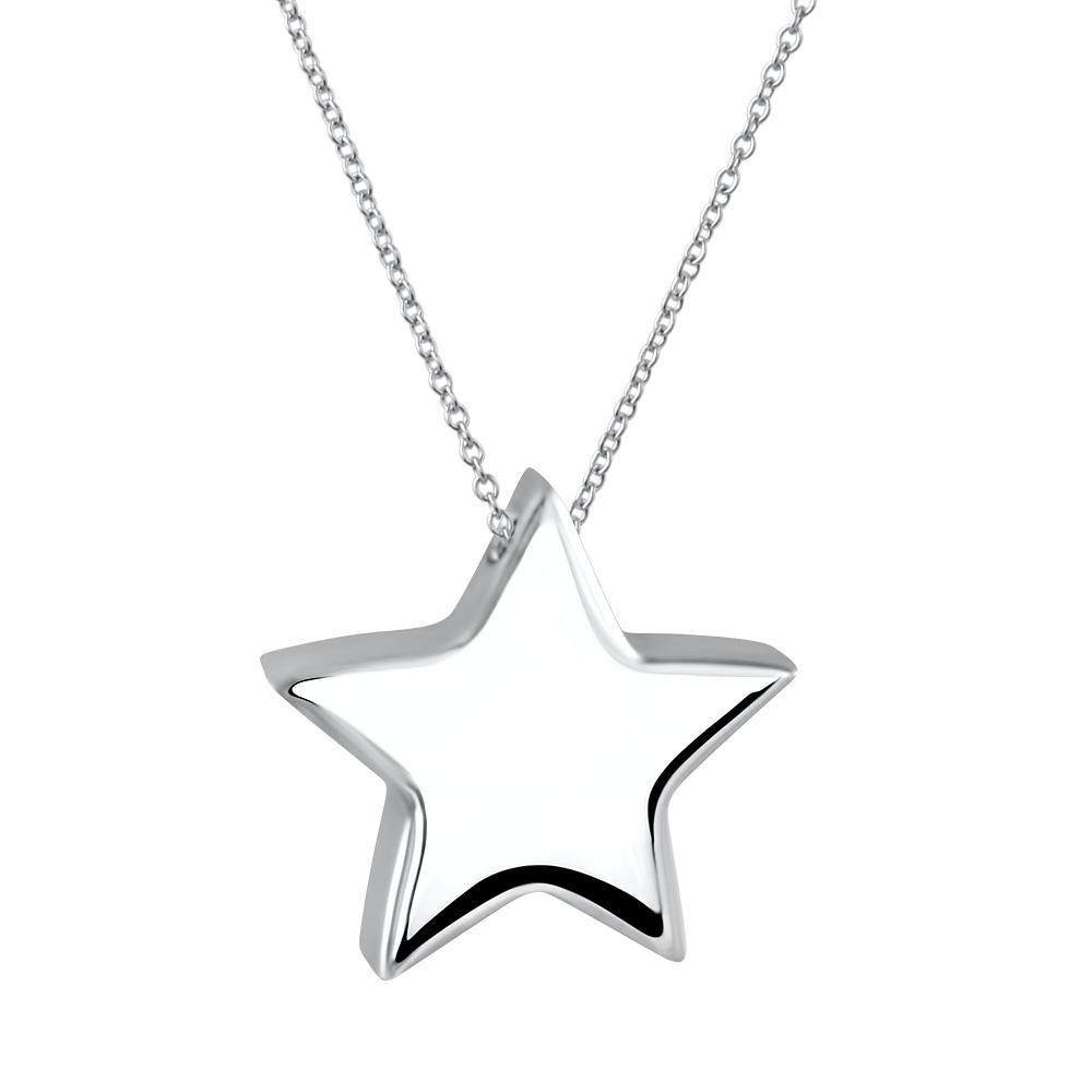 Estrella Sterling Silver Kids Star Pendant Necklace Kids Pendant