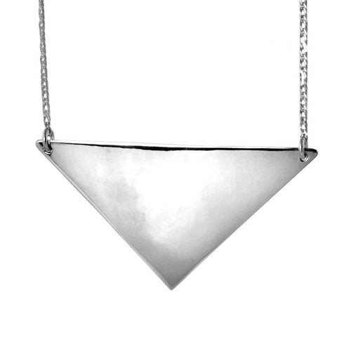 Kait Sterling Silver Triangle Necklace Necklace