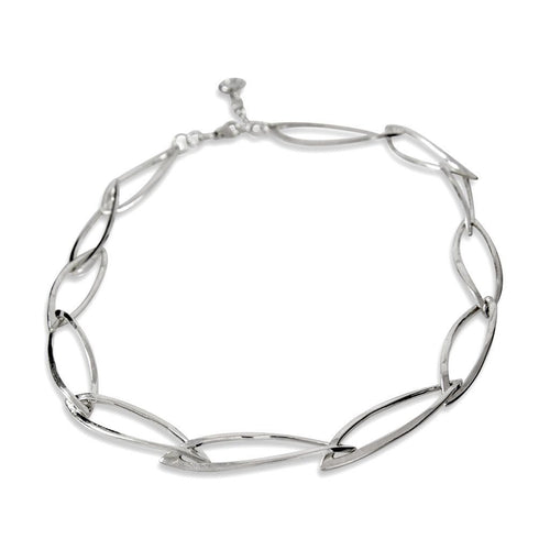 Nuala Sterling Silver Link Necklace Necklace