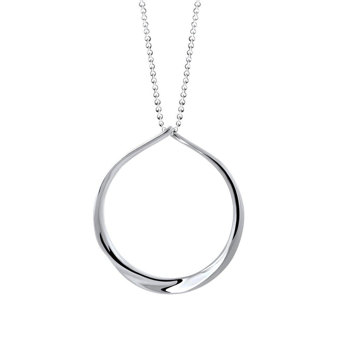 Olivia Sterling Silver Circle Pendant Necklace Necklace